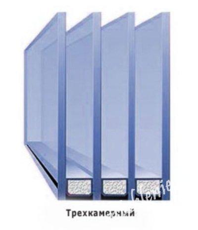 фото стеклопакета с 3 стеклами